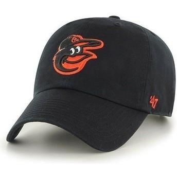 Gorra visera curva negra con logo frontal de MLB Baltimore Orioles de 47 Brand