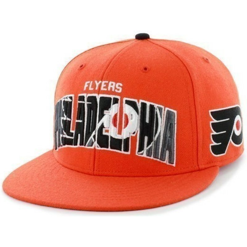 2e9cbf403714c6 47 Brand Flat Brim Large Front Logo NHL Philadelphia Flyers Orange ...