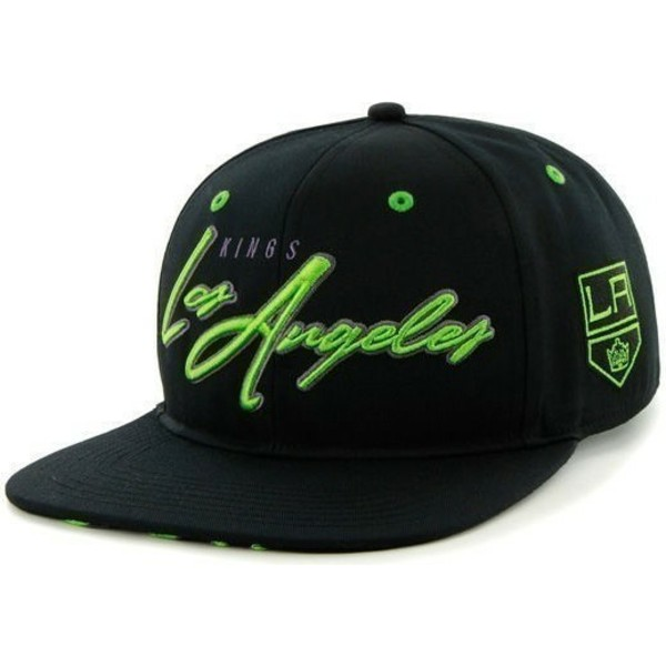 47-brand-flat-brim-large-front-logo-nhl-los-angeles-kings-black-snapback-cap