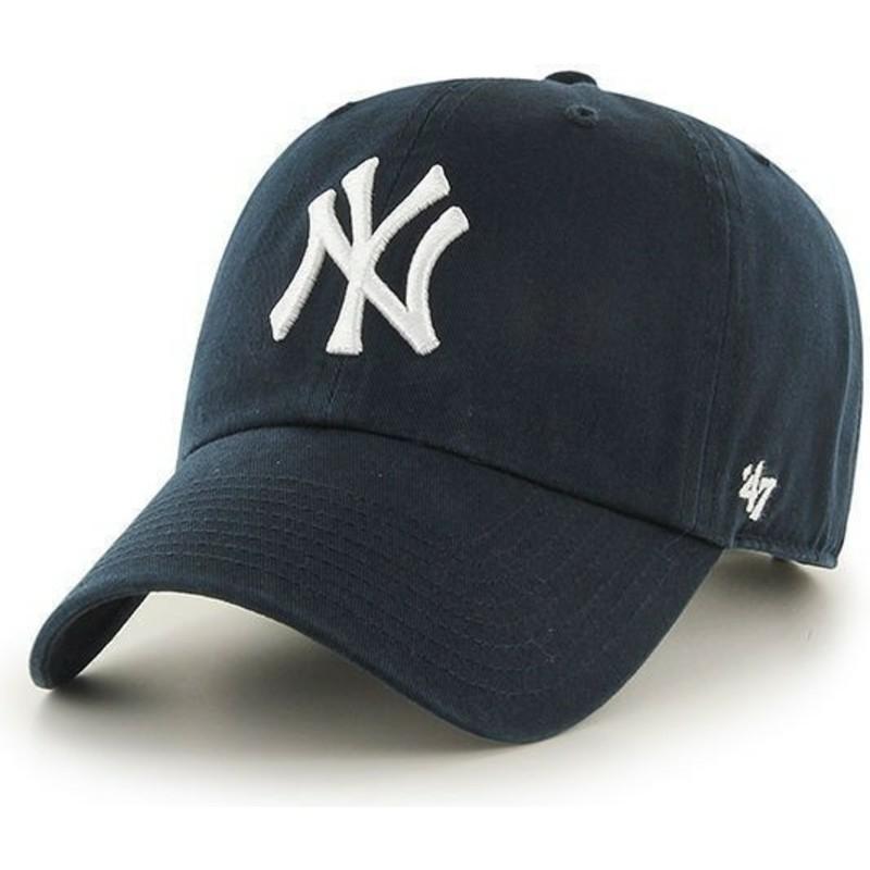 d56a575df43 47 Brand Curved Brim Youth New York Yankees MLB Navy Blue Cap  Shop ...
