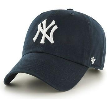Gorra curva azul marino de New York Yankees MLB Clean Up de 47 Brand