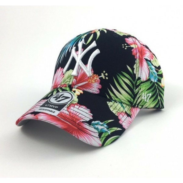 47-brand-curved-brim-flower-print-new-york-yankees-mlb-multicolor-cap