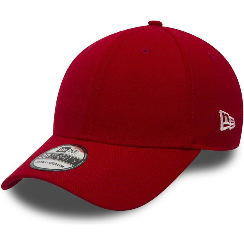 new-era-curved-brim-39thirty-basic-flag-red-fitted-cap