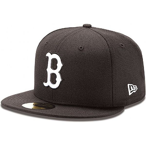 new-era-flat-brim-59fifty-essential-boston-red-sox-mlb-black-fitted-cap