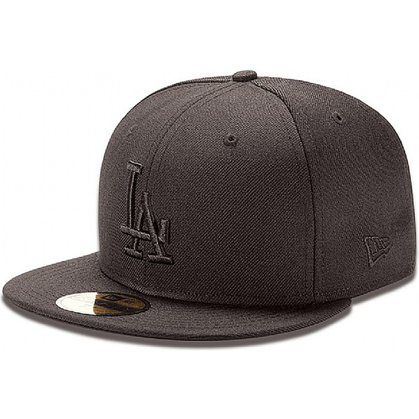 new-era-flat-brim-59fifty-black-on-black-los-angeles-dodgers-mlb-black-fitted-cap