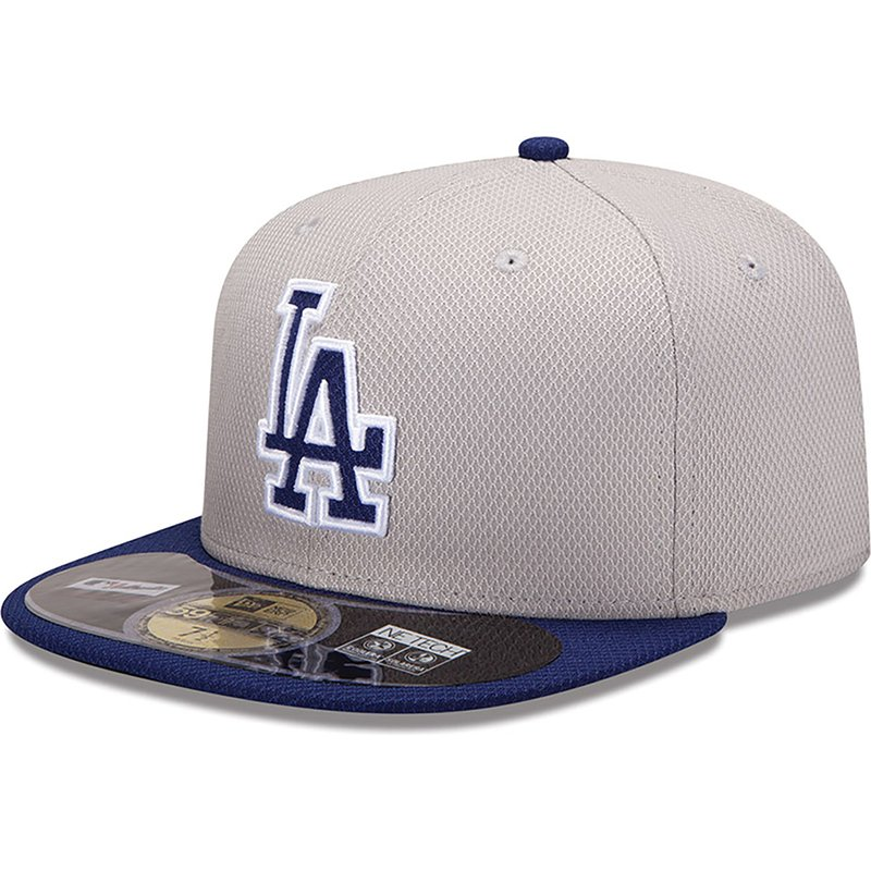 1789ddcabad New Era Flat Brim 59FIFTY Diamond Era Los Angeles Dodgers MLB Blue ...