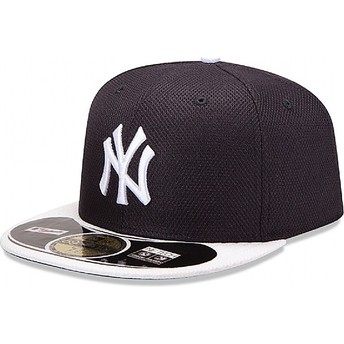 New Era Flat Brim 59FIFTY Diamond Era New York Yankees MLB Navy Blue Fitted Cap