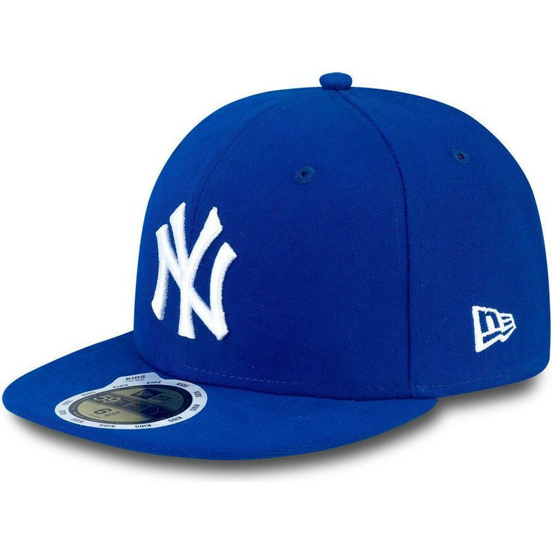 new-era-flat-brim-youth-59fifty-essential-new-york-yankees-mlb-blue-fitted-cap