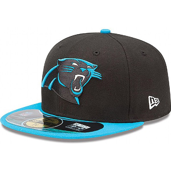 new-era-flat-brim-59fifty-authentic-on-field-game-carolina-panthers-nfl-black-fitted-cap
