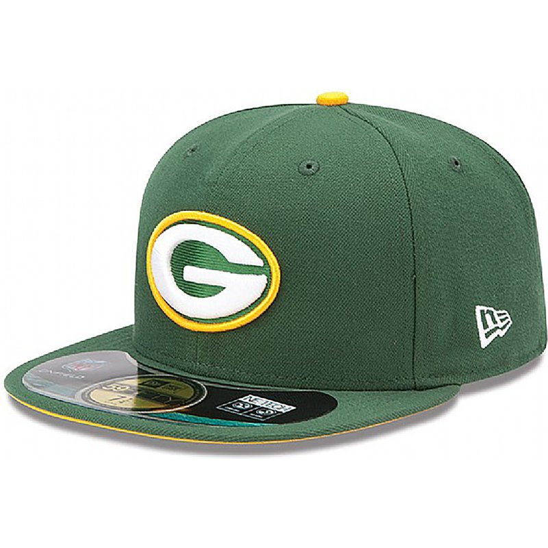 new-era-flat-brim-59fifty-authentic-on-field-game-green-bay-packers-nfl-green-fitted-cap