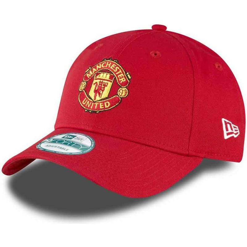 New Era Curved Brim 9FORTY Essential Manchester United Football Club ... c5646e79061