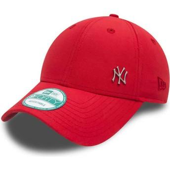 Gorra curva roja ajustable 9FORTY Flawless Logo de New York Yankees MLB de New Era