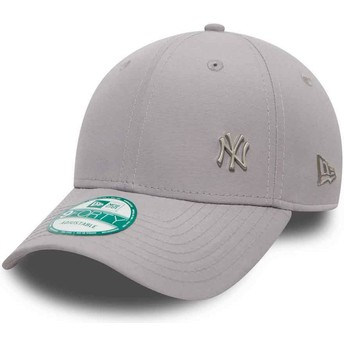 New Era Curved Brim 9FORTY Flawless Logo New York Yankees MLB Grey Adjustable Cap