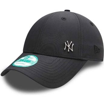 Gorra curva negra ajustable 9FORTY Flawless Logo de New York Yankees MLB de New Era