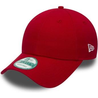 Gorra curva roja ajustable 9FORTY Basic Flag de New Era