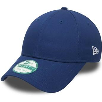 Gorra curva azul ajustable 9FORTY Basic Flag de New Era