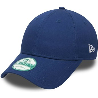 New Era Curved Brim 9FORTY Basic Flag Blue Adjustable Cap