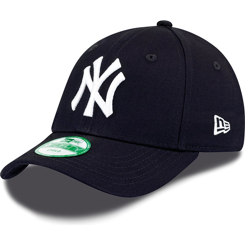b501b98913b3d New Era Curved Brim Youth 9FORTY Essential New York Yankees MLB Navy ...