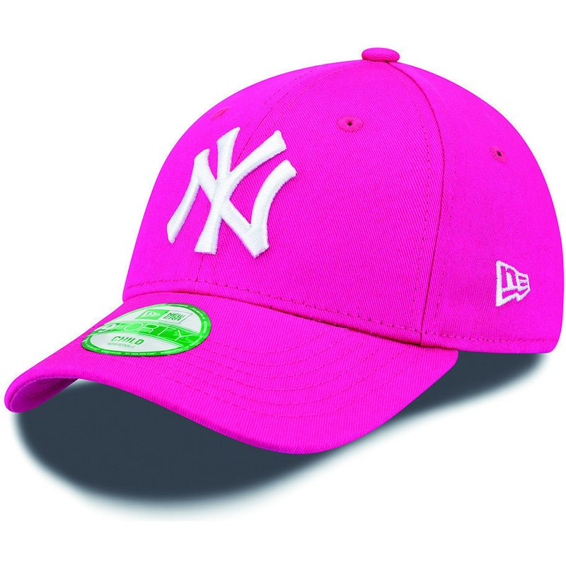 9eed18eba8d New Era Curved Brim Youth 9FORTY Essential New York Yankees MLB Pink ...