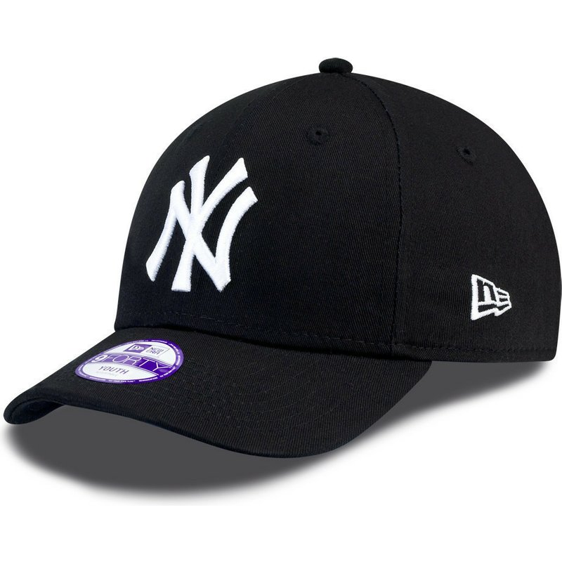 dccabeced New Era Curved Brim Youth 9FORTY Essential New York Yankees MLB ...